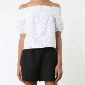 NEW Zac Posen Off The Shoulder Blouse